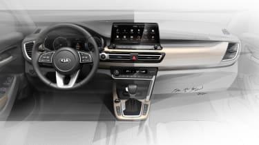 新的起亚紧凑型SUV内部戏弄草图
