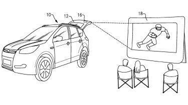 用于后挡式视频投影机的福特文件专利